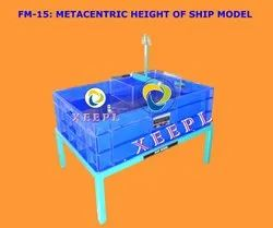 Metacentric Height of Ship Model Apparatus