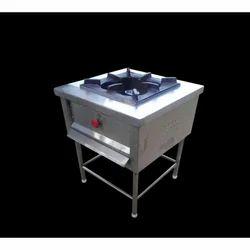Stainless Steel SS Single Burner Cooking Range, For Restaurant, Hotel