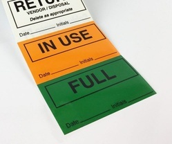 Multicolor Non Tearable Labels