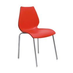 Red National Plastic CS4 Plastic Chairs, for Restaurant