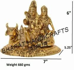Golden Plated Shiv Pariwar