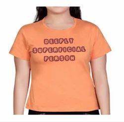 Superficial Peach Womens T Shirt