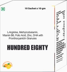 L Arginine, Methylcobalamin, Vit B6 , Folic Acid, Zinc, DHA with Pronthocyanidin Granules