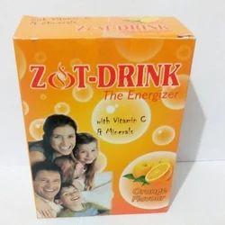 Orange Flavour Energy Drink Zot Drink, Packaging Type: Box