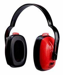 Red & Black 3M 1426 Multi Position Earmuff, Adjustable Headband, Construction Sites