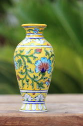 Handmade Blue Pottery Flower Vase