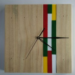 Designer Square Wooden Wall Clock