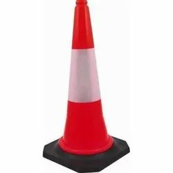 Orange HDPE SAFETY CONE TRAFIC CONE, 1-5KG, Model Name/Number: 01010