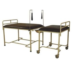 White Mild Steel Obstetric Delivery Bed