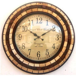 Analog Wood Vintage Wall Clock, For Home and Office