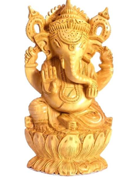 Wooden Ganesha Sculptures