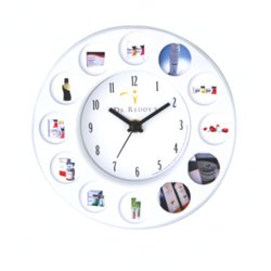 Skymy Dr. Reddy's Table Cum Wall Clock With Product Area Printing