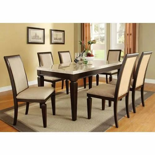 6 Seater Wooden Dining Table Set For, Dining Room Set For 6