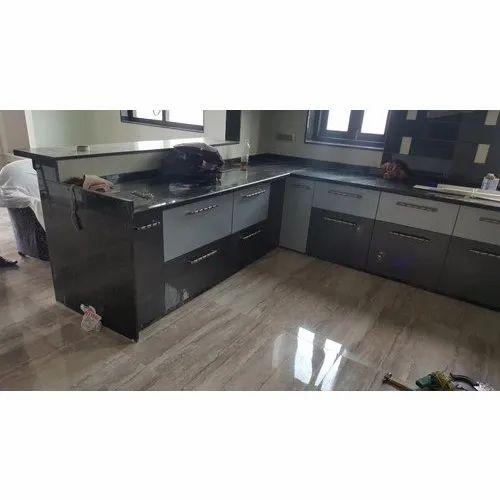 upvc l shape pvc modular kitchen rs 550 square feet