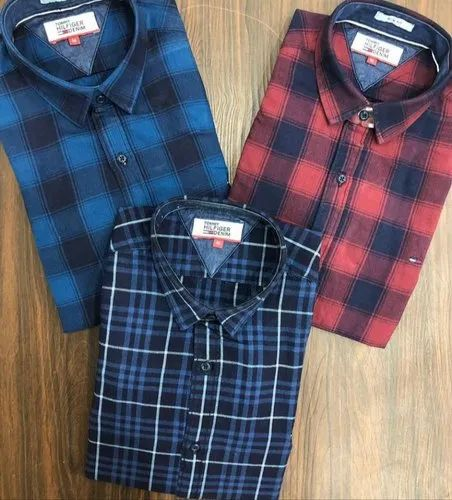 7d279ac5 Regular Wear Mens Indigo Denim Stripes & Checks Shirts, Rs 475 ...