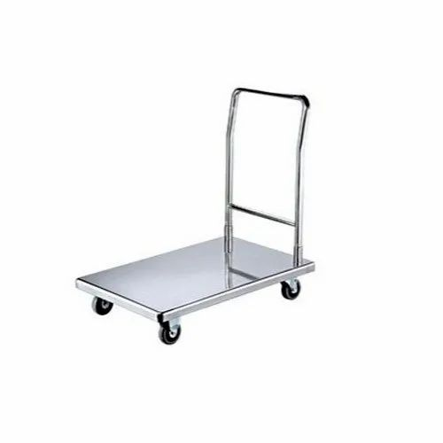Stainless Steel Material Handling Trolley, Load Capacity: 50-100 Kg
