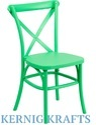 Green Mild Steel Kernig Krafts Metal Patio Restaurant Cafe Chair