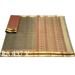 Chanderi Cotton Printed Saree