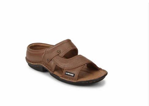 Rc0248 Mens Tan Slip On Slippers, Gents