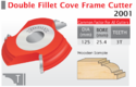 Double Fillet Cove Frame Cutter