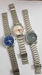 Multicolor Times Gents Stainless Steel Wrist Watch, SS Gents