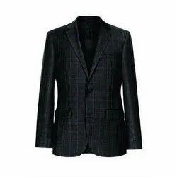 Slim Fit Cotton Black Corporate Blazer