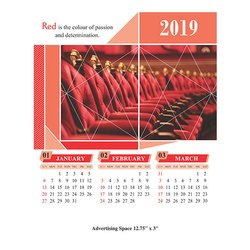 Color Wall Calendars 2019