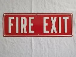 Fire Exit Sign Label