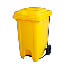 Yellow Garbage Bin