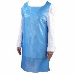 Blue Plain Plastic Apron
