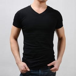 Men''s V Neck Plain T Shirt
