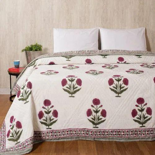 Cotton Block Printed Quilt Rajai