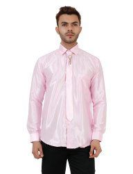 Pink Color Full Sleeve Party Wear Shirt