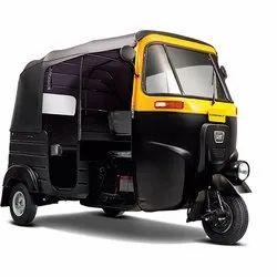 Bajaj Three Wheeler Compact CNG Black and Yellow