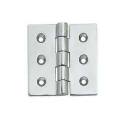 SS Flat Door Hinge, Thickness: 2.6 - 3 mm, Size (in inches): 2