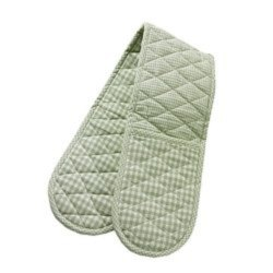 Gingham Check Double Oven Mitt