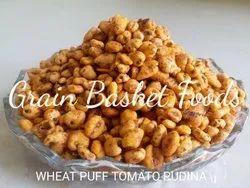 Indian Roasted Wheat Puff Tomato Pudina