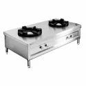 Stainless Steel Two Burner Bulk Cooking Range