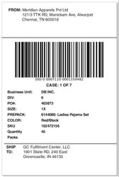 Paper Shipping Barcode Label