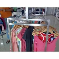 Double Side Clothes Display Stand