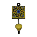 Ceramic And Brass Wall Tile Hook