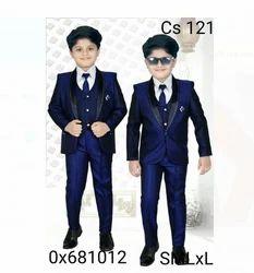 Boys Coat Suit With Shirt Pant