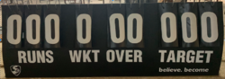 Metal Portable Scoreboard, Shape: Rectangle