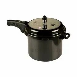 Black Stainless Steel Non Stick Outer Lid Pressure Cooker