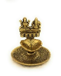 Gold Plated Laxmi Ganesh Diya