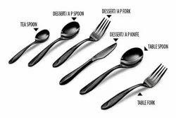 Stainless Steel Cutlery Set (Table Spoons,Tea Spoons,Forks, Dessert Spoons), Silver