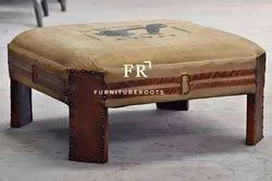 Cafe Furniture Ottoman - Custom Printed Ottoman - Hotel Furniture - Resort Furniture