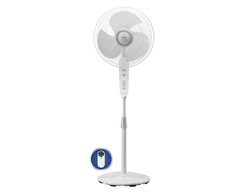 White Maxx Air Comfy with Remote Pedestal Fan