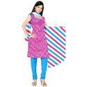 Pink Bandhani Suit