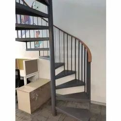 Stainless Steel Spiral Staircase, For Home, Material Grade: Ms